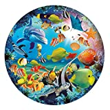 1000 Piece Puzzles for Adults - Difficult Seabed World Sea Animal Fish Dolphin Sea Turtle Round Jigsaw Puzzle - Home Entertainment Puzzles Games Toys