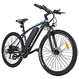 Wince Bicicleta eléctrica e-Bike, 27.5 Pulgadas e-Bike Bicicleta de montaña con Motor de 350W / batería de Litio extraíble de 36V 10.4AH / Palanca de Cambios Shimano de 21 velocidades