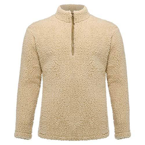 Pull à Manches Longues et col Rond pour Homme Hoodie Pullover Longsleeve Oversize Sweatshirt col Rond Auschnitt Hoody Sweatshirt Sweater Hiver Top Hauts Chaud Blouse