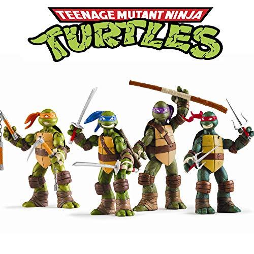 Jubasix Ninja Turtles 4 PCS Set – Teenage Ninja Turtles Action Figure - TMNT Action Figures - Ninja Turtles Toy Set - Ninja Turtles Action Figures Mutant Teenage Set