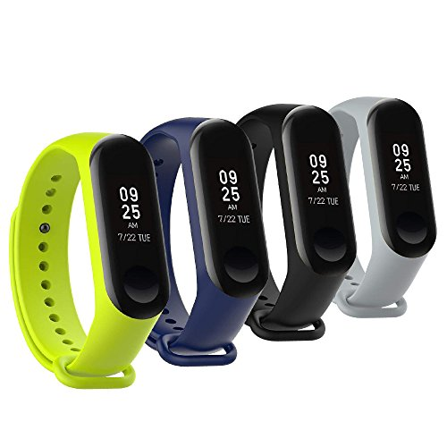 Correa de repuesto para Fit-power de Xiaomi Mi Band 3 (no para Mi Band 2/1S)., Miband3-Plain*4A