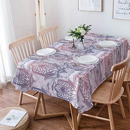 LBDEKOR Table Manufacturer OFFicial shop Cloth Wrinkle Free Cover Rectangle 54 Dining Long Beach Mall