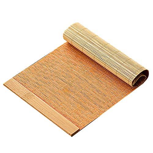 FTL&HONG Alta de té de bambú de Estilo de Granja, casa Retro/de Hotel/de Cocina/Sala de Estar Corredor de la Mesa, Resistente al Calor y Antideslizante (Size : 30×60CM/12 ×24IN)