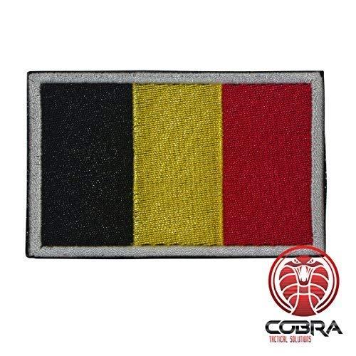 Cobra Tactical Solutions Military Patch geborduurd met klittenband voor Airsoft Paintball vlag België voor tactische rugzak kleding