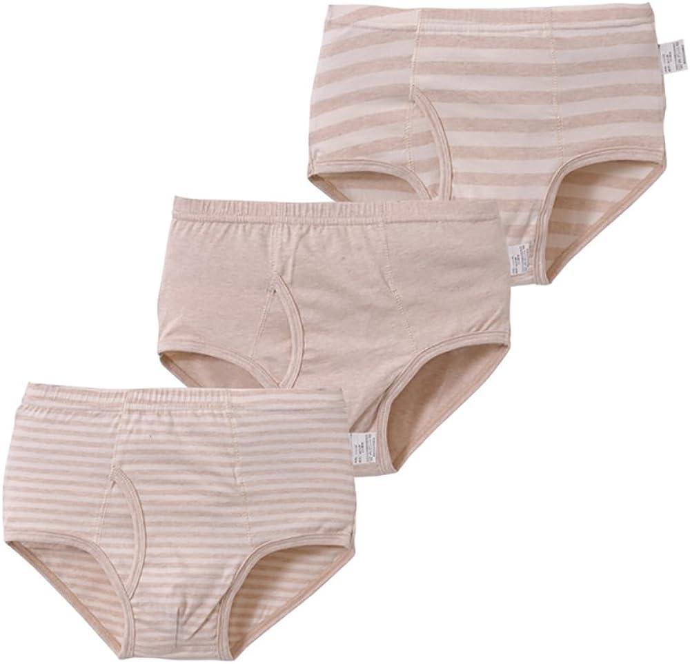 Zegoo Boys 3 Pack Soft Cotton Boxer Briefs Nude