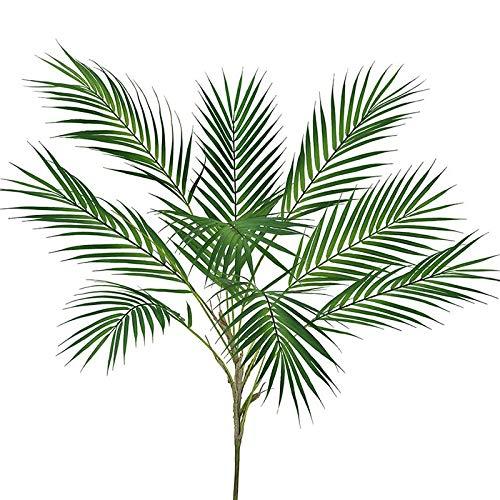 Camisin Plantas Artificiales de Hoja de Palma Rama de áRbol Tropical Plantas Falsas Selva DecoracióN de JardíN para el Hogar DecoracióN de la Boda Accesorio