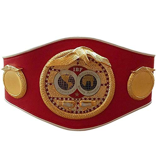 WBC WBA WBO IBF IBO Championships Boxing Belt Adult Premium Quality Leather Full Size Belts (IBF)