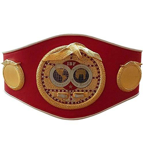 House of Highland 77 WBC WBA WBO IBF IBO Championships Boxgürtel für Erwachsene, Leder, volle Größe mit Box/Tasche, Ibf, Einheitsgröße