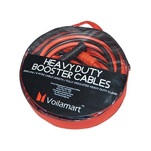Voilamart 3000A 6M Starthilfekabel Starterkabel Überbrückungskabel mit Tragetasche für Pkw