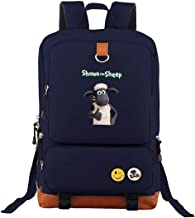 Shaun The Sheep Lightweight Backpack Classic Basic Oxford Shoulder Bag Casual Daypack for Travel Navy