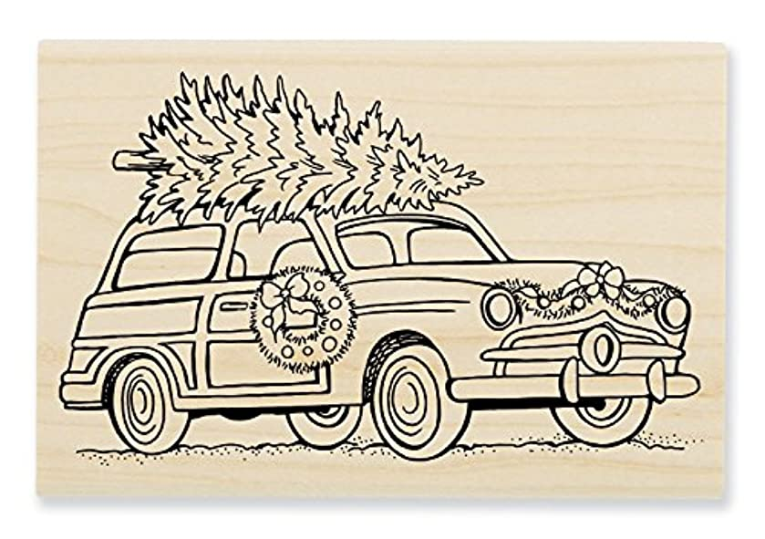 STAMPENDOUS Woody Christmas Wood Stamp