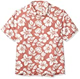 Quiksilver Highlighter Hawaiian Woven Camisa, Canyon Rose Hawaii - Rotulador de Rosas, L para Hombre