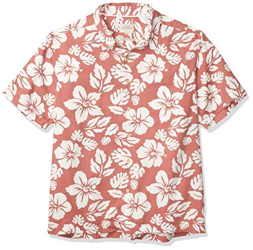 Quiksilver Herren Highlighter Hawaiian Woven Hemd, Canyon Rose Textmarker Hawaii, Klein