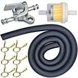 Gasolina Gas Combustible grifo Llave Interruptor de gasolina Filtro de combustible Línea de Válvula de llave de purga manguera de gasolina para 50 70 90110125 150cc motor de generador de gas