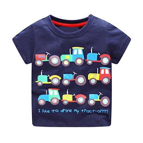JERFER Kleinkind Kinder Baby Jungen Kleidung Kurzarm Cartoon-Muster Tops T-Shirt Bluse