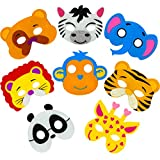 Little Seahorse Zoo Animal Masks for Kids Party, 8 Assorted Felt Masks, Great for Animal, Zoo, Jungle, Safari Themed Christmas, Halloween, Birthday Parties Supplies