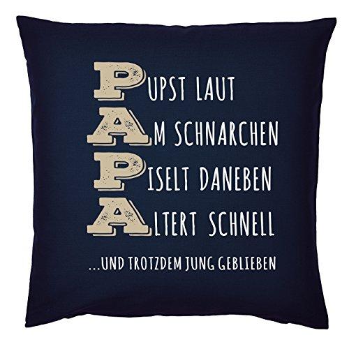 Mega-Shirt Kissen für Väter Cooles Kissen mit Füllung und Urkunde Papa Pust Schnarchen…. Geschenk für Papa zum Vatertag Weihnachten Geburtstag