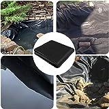 CGF- HDPE-Gummiteichfolie, 0,2 mm / 0,3 mm Dicke, vorgeschnittene Schwarze Teichfolie für den Wassergarten, Koiteiche, Bachbrunnen