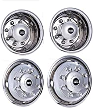 Pacific Dualies 33-1950 Polished 19.5 Inch 8 Lug Stainless Steel Wheel Stimulator Kit for 2003-2014 Chevy GMC 4500/5500/6500 Truck 1990-2019 Ford F650