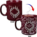 Harry Potter Marauder's Map Heat Reveal Ceramic Coffee Mug - Map Image Activates with Heat