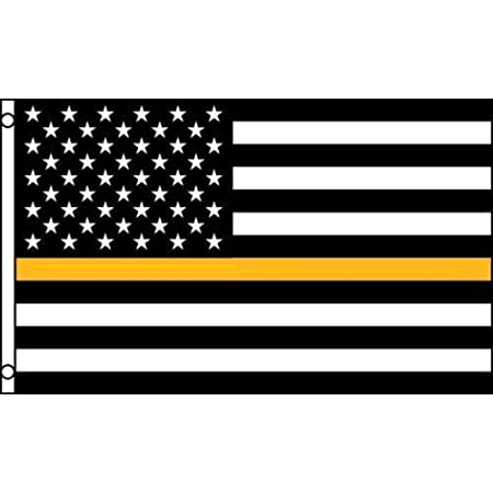 Thin Gold Line dispatcher Large cloisonné American Flag Lapel Pin with 2 pin pos