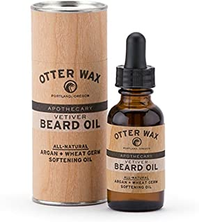 Otter Wax Vetiver Beard Oil | 1oz | All-Natural Beard Conditioner | Made in USA