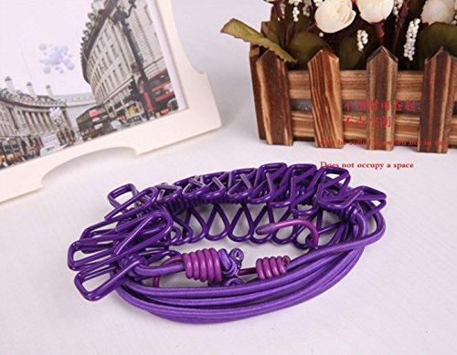 dngdom Flexible Stendibiancheria con 12mollette Travel Portable antivento elastico Clothesline Purple