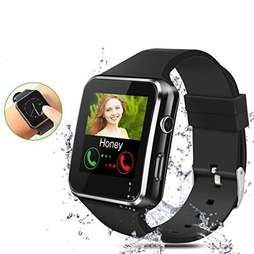 linyingdian Smartwatch Ni/ños,Reloj Inteligente Ni/ños con Flashlight Smartwatch con Ranura para Tarjeta SIM P/úrpura Regalo Ni/ño Ni/ña de 3-12 A/ños Compatible con iOS//Android IP67 LBS SOS C/ámara