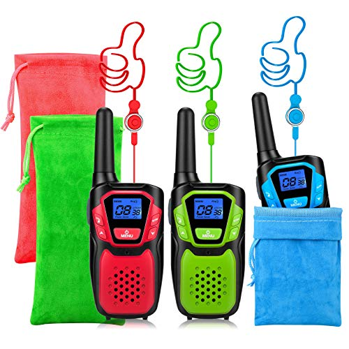 Walkie Talkie 3 Pack Wokie Tokie and Storage Bag Easy to Store and Play Fun Games in The House and Neighbors Christmas Halloween
