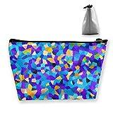 Aquarell - Bolsa de cosméticos para mujer, multifunción, organizador de bolsillos, bolso portátil de viaje, con cremallera (trapez)