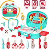 INGQU Doctor Kit for Kids Pretend Play Set Case 19 pcs Educational Toy Doctor Playset for Kids Boys Girls