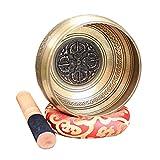 YUTRD CUJUX Regalo Artigianale con mazzuolo Cuore Pace Rilassamento Meditazione Yoga Ciotola tibetana Set Lega (Size : 10.5CM)