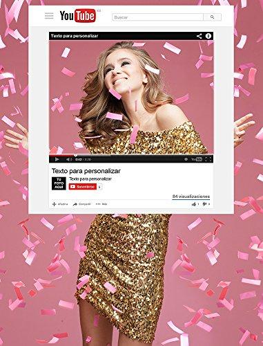 Photocall Youtube   Medidas 100x120cm   100% Personalizado para Eventos Bodas, Bautizos, Cumpleaños Marco   Photocall Divertido