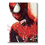 DIY Oil Painting,Paint by Numbers kit for Adults Beginner,Super Hero Spiderman.-16X20 Inch (Spiderman-1, 40X50CM)