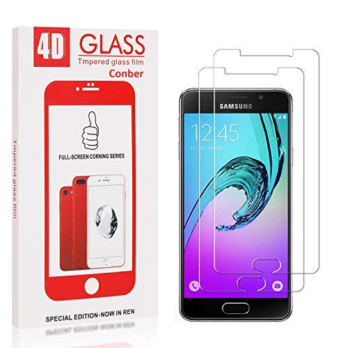Conber [2 Stück] Displayschutzfolie kompatibel mit Samsung Galaxy A5 2016, Panzerglas Schutzfolie für Samsung Galaxy A5 2016 [9H Härte][Hüllenfreundlich]