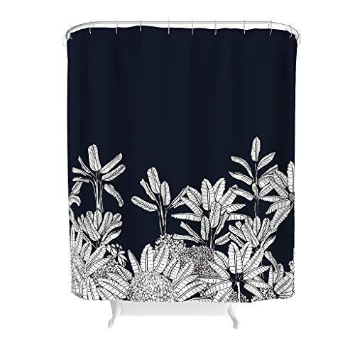 CUCIN Plant Tropische plant Kleurrijke textielhaken inbegrepen - thema waterdicht polyester weefsel douchegordijn voor badkamerdecoratie