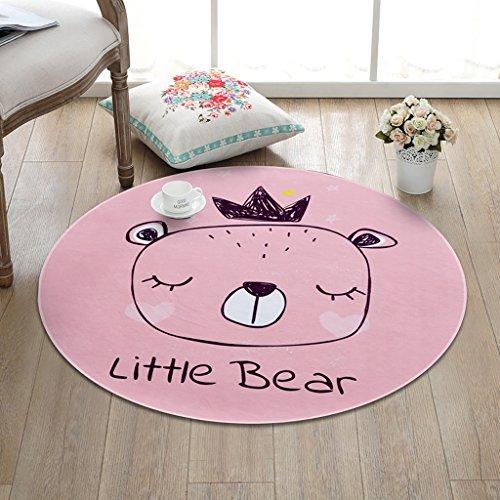 CKH Kindercartoon eenvoudig rond tapijt woonkamer slaapkamer salontafel kamer hangmand nachtkastje computer stoel mat roze