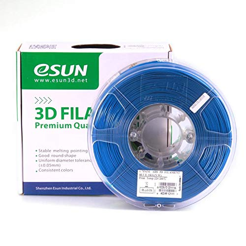 eSun 3D Filament - ABS, 1kg / 1,75mm - Blau (blue), Druck Tempe. 220-260℃, für 3D Drucker z.B. MakerBot RepRap MakerGear Ultimaker Mendel Huxlep UP Thing-o-matic, Universal