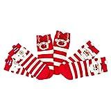 GZQ 3 Par Bebé Calcetines Algodón para Navidad, Calcetín de invierno,Medias Calientes, (S, Estilo A)