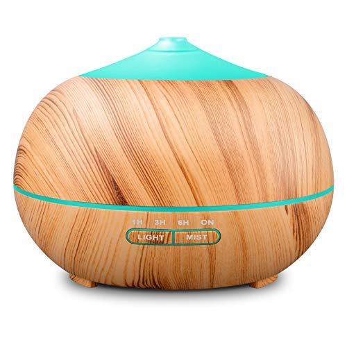 400ml Holzmaserung Aroma Diffuser Luftbefeuchter Diffuser