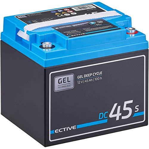 ECTIVE 45Ah 12V GEL Versorgungsbatterie DC 45s mit LCD-Display Solar-Batterie mit integrierten Nachfüllpacks