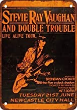 Aluminum Metal Novelty Sign 12x16inches,Nice Stevie Ray Vaughn in Newcastle,Tin Wall Signs Warning Sign Metal Plaque Poste...