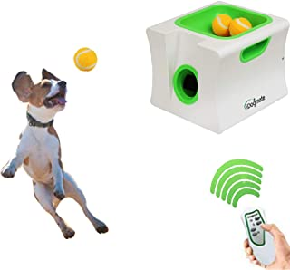 IDOGMATE Dog Ball Launcher, Mini Automatic Rechargeable Ball Thrower for Small Dog