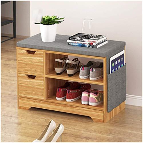 HLL Banco de zapatos Banco de zapatos de puerta simple Banco de sofá multifunción Taburete de extremo de cama Taburete de almacenamiento creativo para sala de estar