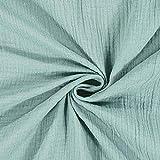Fabulous Fabrics Musselin grün, Uni, 132cm breit –
