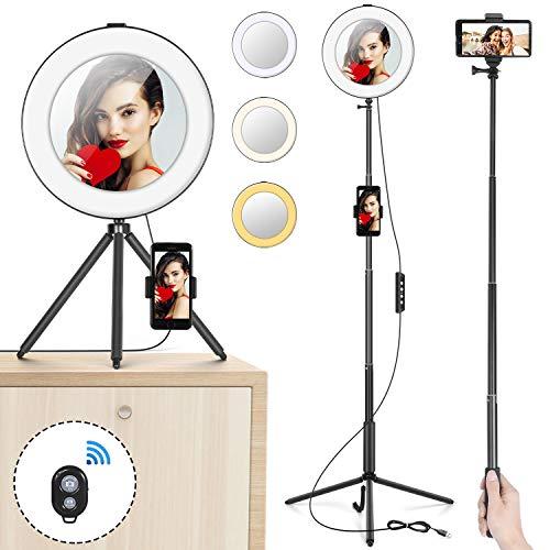 "Anillo Luz 8"" MACTREM Aro Luz LED Regulable Selfie"