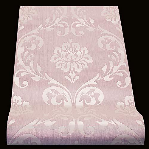 Vliestapete Barock Tapete Ornament Klassisch rosa Glanz 13110-90
