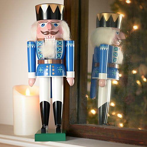 Nussknacker Nussknacker K g blau - 36cm - Original Erzgebirge - Volker Füchtner
