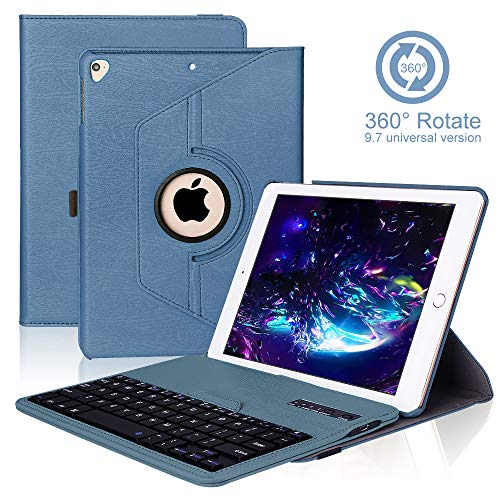 funda Teclado Inalámbrico para iPad Air 2/1/9.7/2018(6th Gen)/2017 con Teclado Bluetooth Español