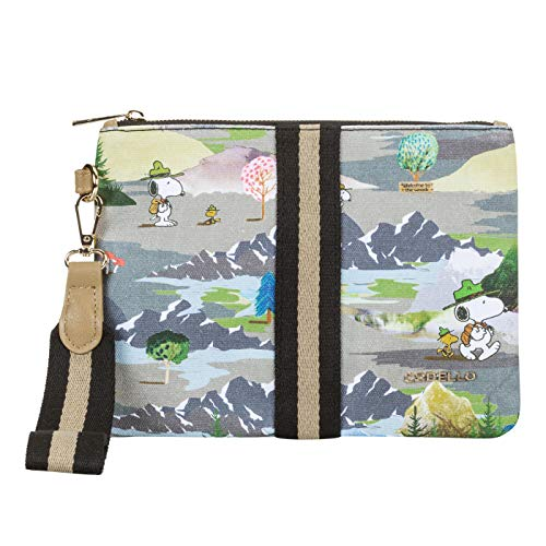 CODELLO Damen PEANUTS Clutch mit Snoopy & Co. aus Canvas
